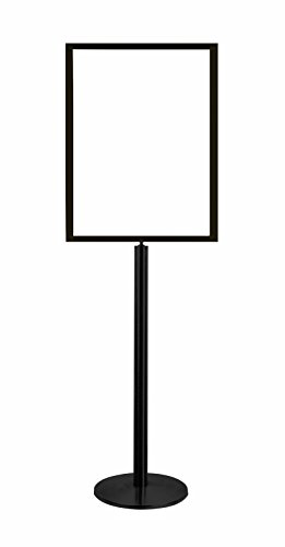 Lawrence metal 1310U-33-2228HD-V Sign Stand, Universal Base, Heavy Duty Frame, Vertical, 22