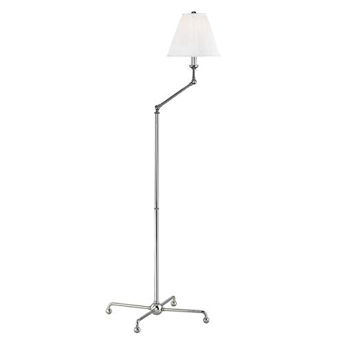 Hudson Valley MDSL108-PN Classic No.1 Floor Lamps, 1-Light 75 Watts, Polished Nickel