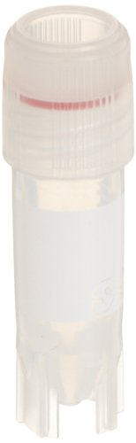 Chemglass CLS-4758-001 Polypropylene 1.2mL Sterile Self-Standing Cryo Vial, with Extra Long Lip Seal (Pack of 100) (1.2 Ml Vial)