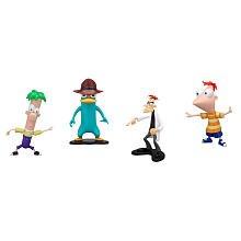 Disney Phineas and Ferb PVC Collector Pack Phineas, Ferb, Agent P & Dr. Doofenshmirtz