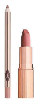 Charlotte Tilbury Pillow Talk Bundle with Matte Revolution Lipstick in Pillow Talk and Lip Cheat in Pillow Talk (2 Items)