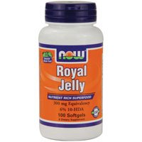 Royal Jelly, 300 mg, 100 Sgels by Now Foods (Pack of 4)