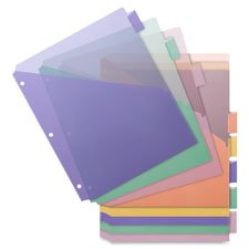 Poly Index Dividers, Double Pocket, 8-Tab, 8-1/2\