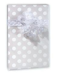 - Pearl White Polka Dot Wedding Gift Wrap Paper - 16 Foot Roll Wedding Anniversary