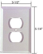 Duplex Plug Glass Mirror Plate - C.R. LAURENCE GMP2C CRL Clear Duplex Plug Glass Mirror Plate