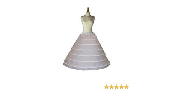 Amazon Com 6 Bone Hoop Cotton Bridal Petticoat Wedding Slip Skirt