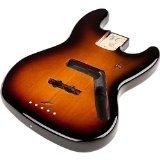 Fender Jazz Bass Body with Alder, Brown Sunburst by Fender Musical Instruments Corp.