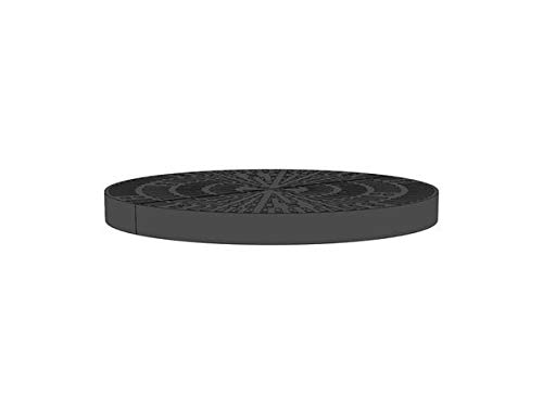 30 Inch x 30 Inch Circle Heavy Duty Fountain Basin Grate - (2) 15 Inch x 30 Inch Half Circle Reservoir Grates - for Pond and Water Garden Features and More - Will Not Rust - Black
