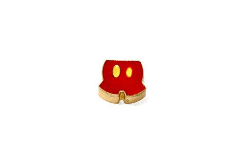 (BRACCIALE DISNEY MICKEY MOUSE SHORTS STAINLESS STEEL GOLD PLATED FLOATING NECKLACE CHARM)