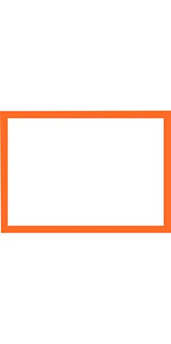 A1 Flat Notecards (3 1/2 x 4 7/8) - Mandarin Orange Border Cards (1000 Qty.) by Envelopes Store