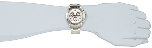 Victorinox Men's 241445 Swiss Army Analog Swiss Quartz Silver Watch