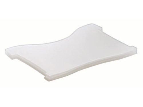 4 pacchetto traslucido-trasparente per HAN flashcards CROCO HAN 9028-63 DIN piastra di supporto A8 orizzontale tipo. - N, 998