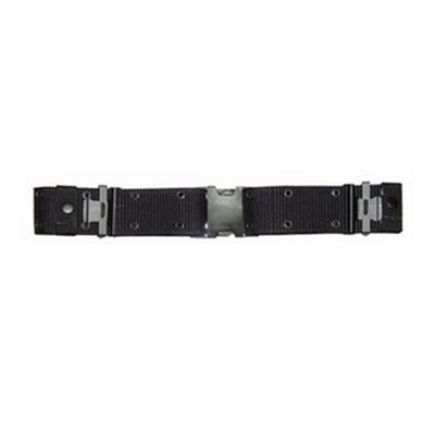 Black Nylon Swat Belt (Marine Corps Style Nylon Q.R. Pistol Belt, Black, Medium)