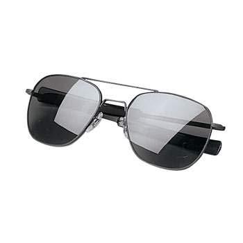 Rothco G.I. Type Aviator Sunglasses, Black/Smoke, 58 MM