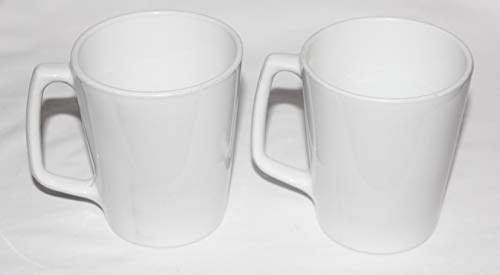 Coupe Centura White - Vintage Corning Centura White Coupe 4 Inch Coffee Tea Mug Cups - SET OF 2