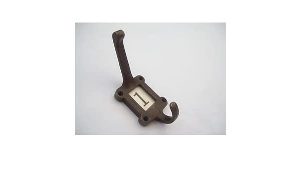 Ironmongery World Cast Wrought Iron Label Frame Hat And Coat Hook