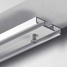 Gardinenschiene Vorhangschiene, Aluminium, weiß, glatte, glänzende Oberfläche, 2-läufig, vorgebohrt, hochwertig, flach - 1,80 m