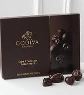 GODIVA Chocolatier Dark Chocolate Assortment Gift Box, Classic Ribbon, 27 pc.