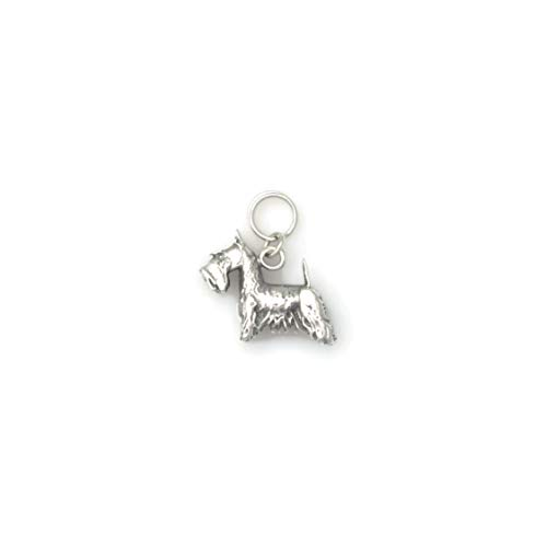 Sterling Silver Scottish Terrier Charm, Silver Scottie Charm, Silver Scottish Terrier Jewelry fr Donna Pizarro's Animal Whimsey - Silver Scottie Charm Sterling Dog