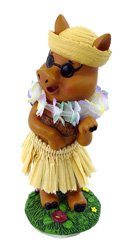 KC Hawaii Hula Pig Mini Dashboard Doll 4 inch