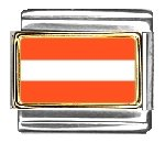 Austria Flag Italian Charm Bracelet Link