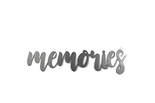 Raw Steel Unpainted Word Art - memories size small (Word Art Custom)