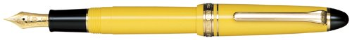 Sailor 1911 Standard Yellow GT 14K Gold Medium Fine Point Fountain Pen - 11-1201-370