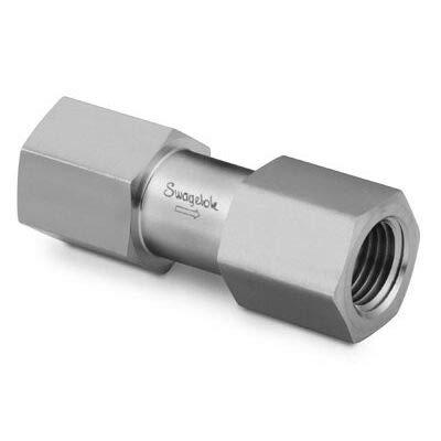 "316 Stainless Cracking Pressure : 20 psig 6,000 psi Kalrez O-Ring 1.4 bar Inlet//Outlet : 1//4/"" Tube : OD Compression Swagelok SS-4C4-1Check Valve"