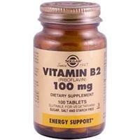 Solgar, Vitamine B2, 100 mg, 100 comprimés