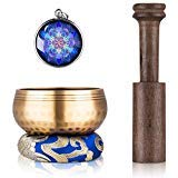 Tibetan Singing Bowl Set - Sing Bowl Unique Gift Helpful for Meditation, Yoga, Relaxation, Chakra Healing, Prayer and Mindfulness (Limited Edition)