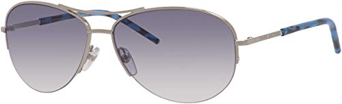 Marc Jacobs Women's Marc61s Aviator Sunglasses, PALLADIUM, 59 mm (Marc By Marc Jacobs Aviator)