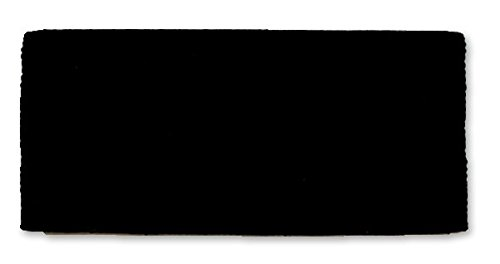 Mayatex San Juan Solid Saddle Blanket, Black, 36 x 34-Inch ()