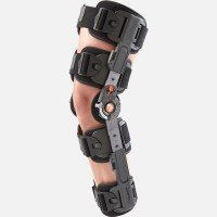 Breg T Scope Premier Post-Op Knee Brace - Universal Adjustable Size Left or Right for Recovery Stabilization ()