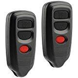 Car Key Fob Keyless Entry Remote fits Isuzu Amigo Axiom Rodeo Trooper/Honda Passport/Acura SLX 1998 1999 2000 2001 2002 2003 2004 (HYQ1512R), Set of 2
