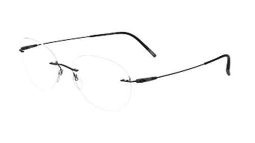 Eyeglasses Silhouette Dynamics Colorwave ( 5500 ) 9040 black 49/19/145 3 piece f