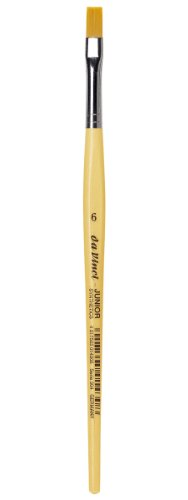 Flat Roll Non (da Vinci Student Series 304 Junior Paint Brush, Flat Elastic Synthetic with Lacquered Non-Roll Handle, Size 6)