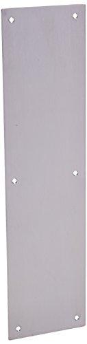 Satin Stainless Steel Push Plates - 8
