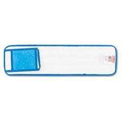 ** Microfiber Wet Room Pads, 24 in. Long, Split Nylon/Polyester Blend, Blue **
