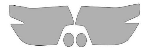 P#:2012-TOYOTA-TACOMA-1946M Clear Bra Paint Protection Film Kit for a TOYOTA TACOMA 4X2 REGULAR CAB I4 AUTOMATIC.Coverage includes a Headlights Foglights Kit (3M Scotchgard Film)