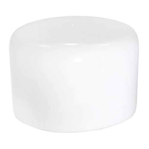 Prescott Plastics 8 Pack: White Vinyl Round Pipe End Cap Cover Rubber Plastic Tube Hub Caps Tubing Dock Post Marine Safety (2