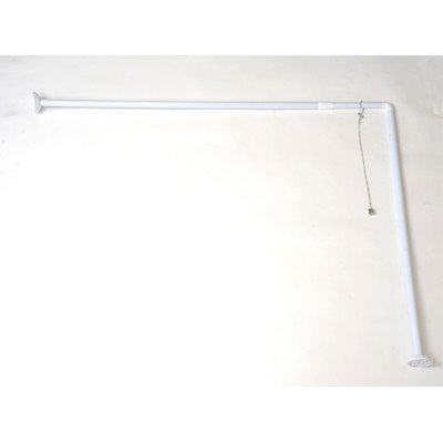 EVIDECO Wall Mounted Adjustable L Shaped Corner Bathroom Curtain Rod by EVIDECO