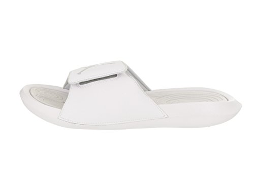 Nike Mens Hydro 6 Synthetic Leather Sandals White Pure Platinum
