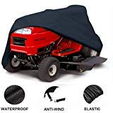 DMCSHOP Riding Garden Tractor Cover - Heavy Duty Outdoor Lawn Mower Cover 600D Polyester Oxford UV Protection, Waterproof with Storage Bag