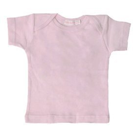 ic Short Sleeve Lap Shoulder Tee, Blush, 6-9 Months (Organic Lap Shoulder Tee)