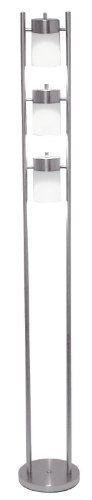 ORE International 3031FW 3-Light Adjustable Floor Lamp, White ()