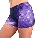 Galaxy Basic Shorts (Purple/Black, 2.5 in. Adult M 8-10)