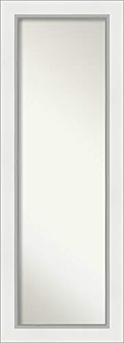 Amanti Art Full Length Mirror | Eva White Silver Mirror Full Length - Bathroom Easy For Frame Wood Without Mirrors