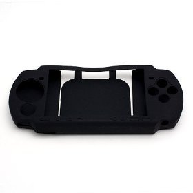 Gen Soft Rubber Jelly Silicone Skin Cover Case for Sony PSP 3000, Black (Sony Psp Slim Silicone)