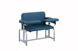 Pro Advantage P271027 Blood Draw Chair, 2 Flip-Arms, Upholstered, 600 lb. Capacity