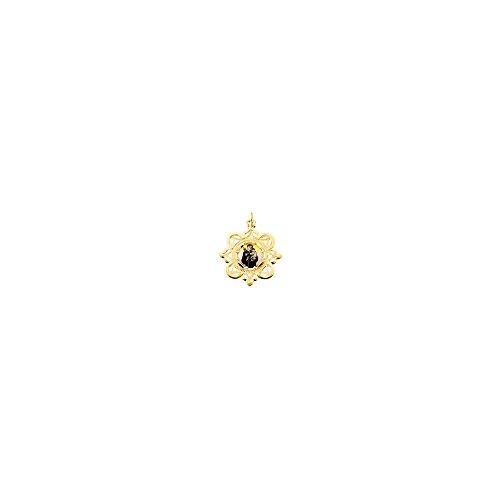 10K Yellow Gold 25.75x25.75mm St. Anthony Framed Enamel Pendant